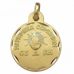 Medalla oro 18k primera comunión grupo sanguíneo [637]