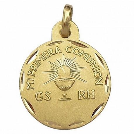 Medalla oro comunión [637]