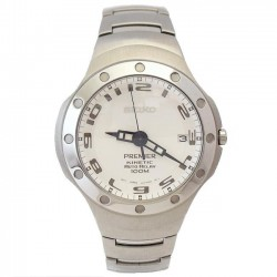 Reloj Seiko SMA165P1 Premier Kinetic Auto Relay hombre [3094]