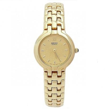 Reloj Seiko SXJ852J mujer chapado oro