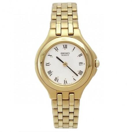 Reloj Seiko SXC050J Quartz mujer chapado oro