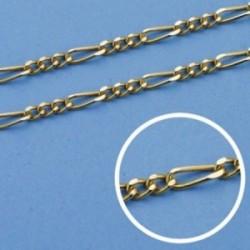 Cadena oro 18k 60cm. eslabón 3x1 ancho 2mm. [AB0708]
