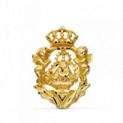 Colgante oro 18k Virgen Cabeza escudo [AB0723]