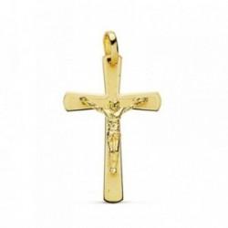 Cruz crucifijo oro 18k plana fabricación láser [AB0802]