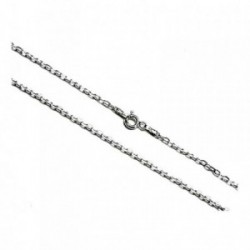 Cadena plata ley 925m 40cm. forzada hilo 0.5mm. [AB0354]