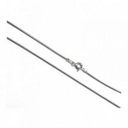 Cadena plata ley 925m 45cm. cola ratón hilo 0.20mm. [AB0379]
