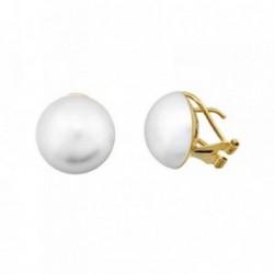 Pendientes oro 18k perla 13mm. japonesa [AA6505]