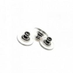 Fornitura metal silicona - 10 unidades - indicada para pendientes cierre presión