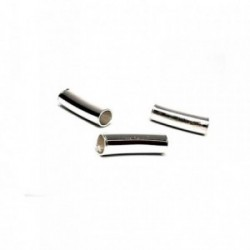 Fornitura plata Ley 925m tubos lisos separadores 1 unidad [AB0836]