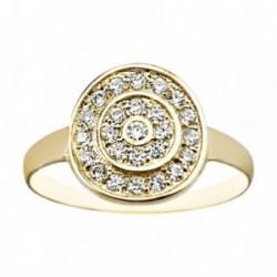 Sortija oro 18k círculos circonitas [AA7168]