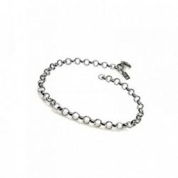 Pulsera plata Ley 925m cadena lisa rolo [AB1310]
