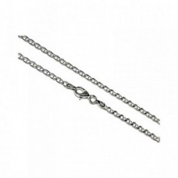 Cadena plata Ley 925m lisa 45cm. marina. [AB1533]