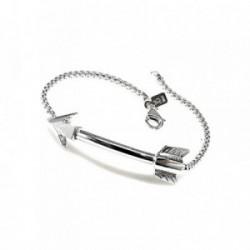 Pulsera plata Ley 925m cadena coreana 18cm. motivo flecha [AB1577]