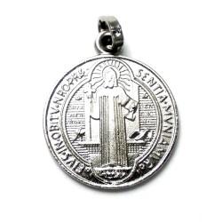 Medalla plata ley 925m San Benito 17mm. doble cara circular [AB1917]