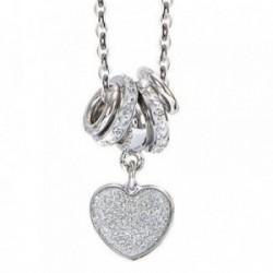 Colgante collar BOCCADAMO GLOSS bronce corazón anillas [AB1923]