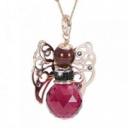 Colgante collar BOCCADAMO KERUBINA bronce piedra natural perla piedras Swarovski cadena incluida