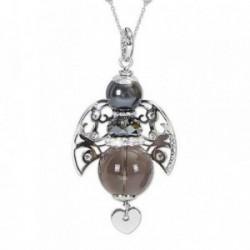 Colgante collar BOCCADAMO KERUBINA bronce piedra natural [AB1931]