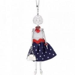 Colgante collar BOCCADAMO MYA BAMBOLINE muñeca vestido [AB1932]