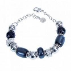 Pulsera mujer BOCCADAMO MILLY-STRASS bronce piedras azules [AB1936]