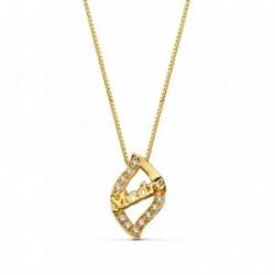 Colgante oro 18k MADRE circonitas cadena 44cm. [AB2307]