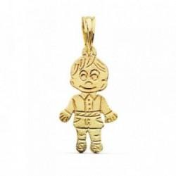 Colgante oro 18k niño tallado 17x11mm.  [AB2454]