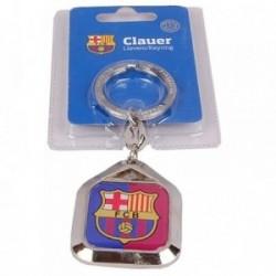 Llavero F.C. Barcelona escudo metálico placa cuadrada [AB2188]
