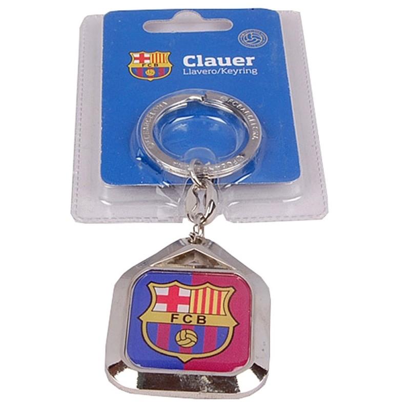 Llavero F.C. Barcelona escudo metálico placa cuadrada  AB2188  bbafbdd29a4