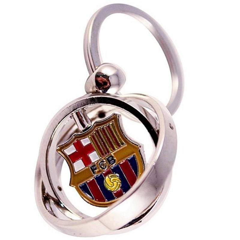 Llavero F.C. Barcelona metálico doble giratorio y escudo  AB2190  c7e8528f5b4