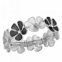 Pulsera ANTONELLI CRUISE bronce extensible detalles flores [AB2484]