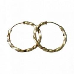 Pendientes Gold Filled 14k/20 aro torcidos 20mm. [2351]