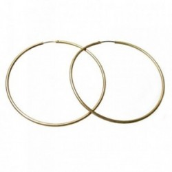 Pendientes Gold Filled 14k/20 aro liso fino 72mm. [2355]