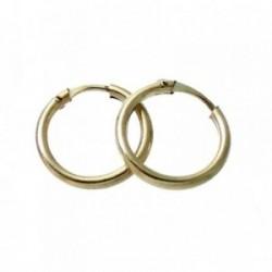 Pendientes Gold Filled 14k/20 aro liso pequeño 12mm. [2362]