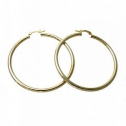 Pendientes Gold Filled 14k/20 aro liso grueso 54mm [2580]