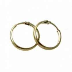 Pendientes Gold Filled 14k/20 aro media caña 12mm. [2582]