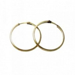 Pendientes Gold Filled 14k/20 aro media caña 18mm. [2584]