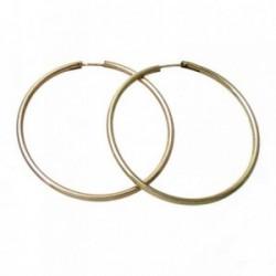 Pendientes Gold Filled 14k/20 aro liso grueso 48mm. [3004]