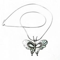 Colgante gargantilla plata Ley 925m cola topo mariposa azul [770]