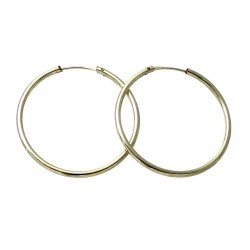 Pendientes Gold Filled 14k/20 aro liso 35mm. [2363]