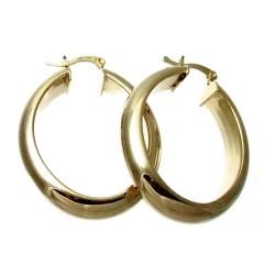 Pendientes Gold Filled 14k/20 aro media caña ancho ovalado [2579]