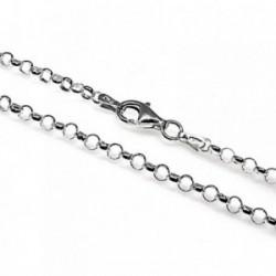 Cadena plata ley 925m rolo 50cm. hilo 0.45mm. [AB2544]