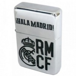 Encendedor Real Madrid gris recargable gasolina [AB2804]