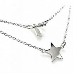 Colgante gargantilla plata ley 925m cadena estrella 10mm. [AB2677]