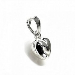 Colgante plata ley 925m corazón liso 8mm. [AB2703]
