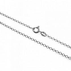Cadena plata ley 925m 45cm. rolo hilo 0.27mm. [AB2752]