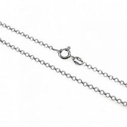 Cadena plata ley 925m 40cm. rolo hilo 0.27mm. [AB2753]