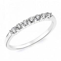 Sortija oro blanco 18k diamantes brillantes 0,40ct. [AB2821]