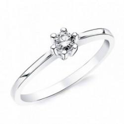 Solitario oro blanco 18k 1 diamante brillante 0,150ct. [AB2825]