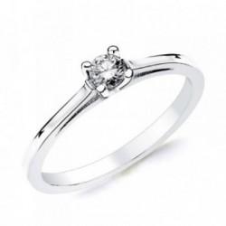 Solitario oro blanco 18k 1 diamante brillante 0,150ct. [AB2827]