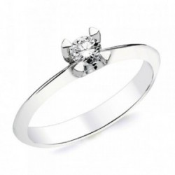 Solitario oro blanco 18k 1 diamante brillante 0,200ct. [AB2831]