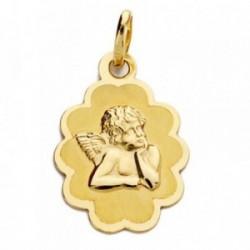 Medalla oro 18k ángelito 18mm. [AB2872]